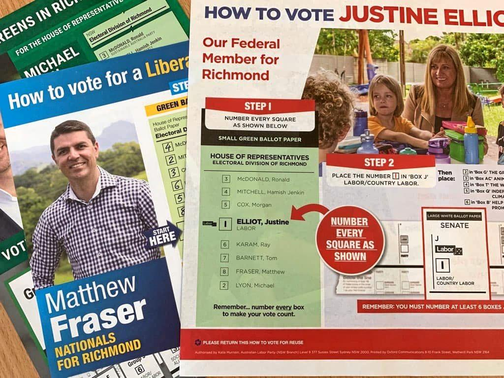 DEAD LAST: Federal Richmond MP Justine Elliot has defended placing Nationals candidate Matthew Fraser last on her how to vote form.