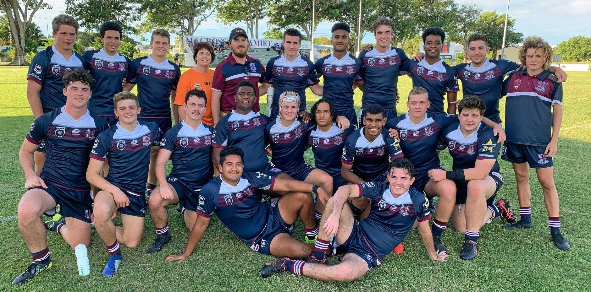 REDEMPTION: The Mackay State High School First XIII made amends for their heavy loss to St Brendan's College last year, by inflicting a 34-6 result on their Rockhampton rivals.