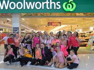 Mother's Day flash mob spreads the love in Woolies