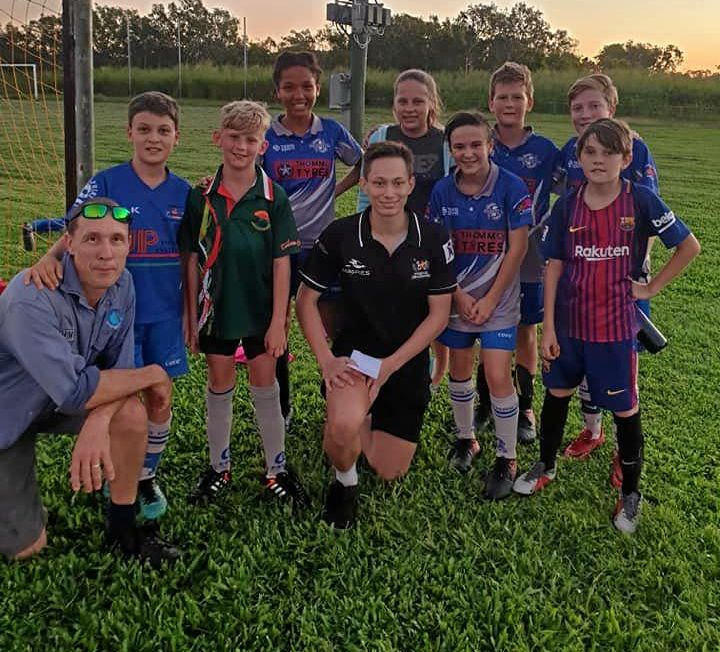 Magpies Crusaders player Matt Haspels paid a visit to Dolphins this week to put some juniors through their paces.