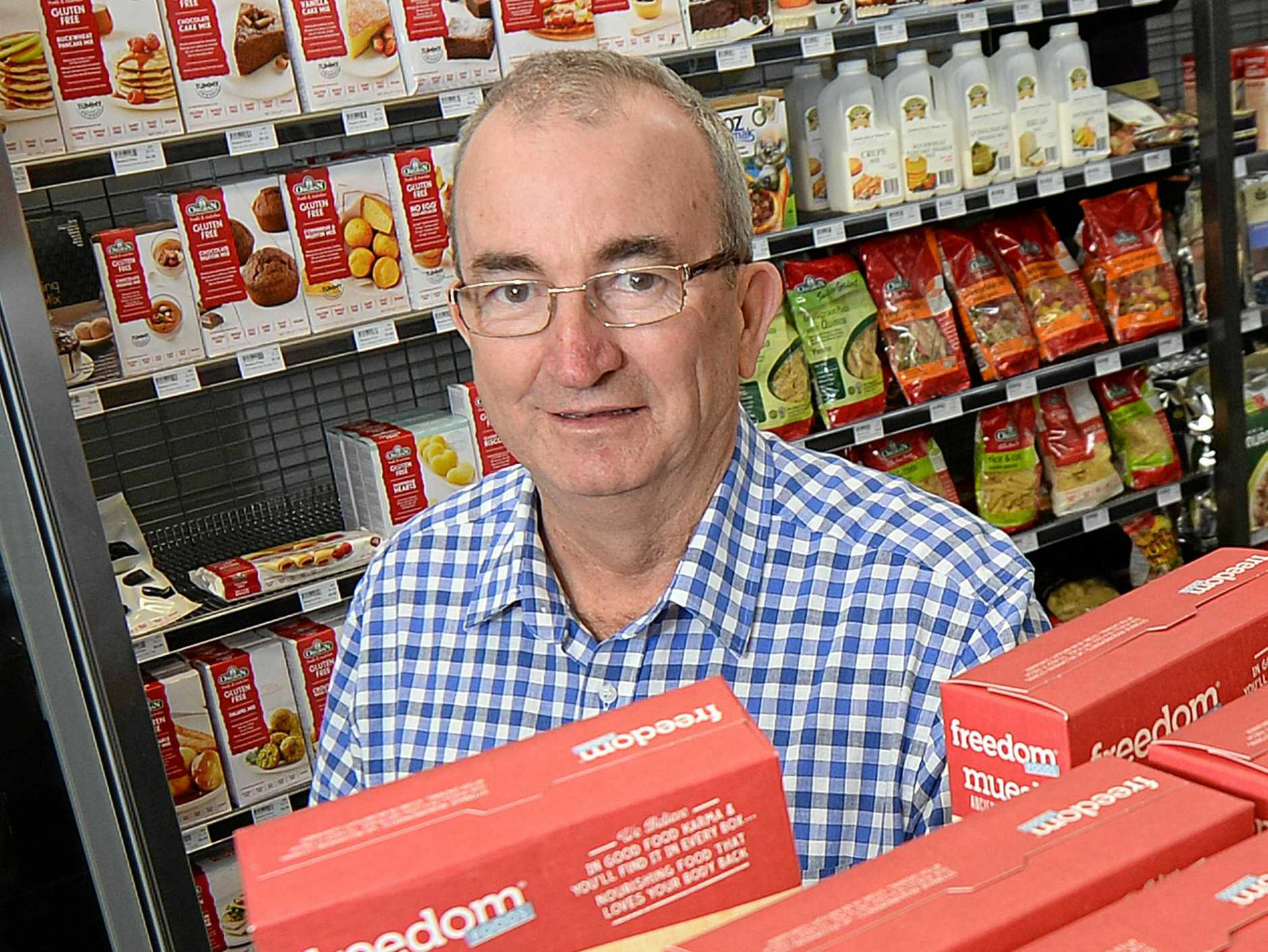 Ian Kinsey at his Spar supermarket Fitzroy Street, Rockhampton. He is more than fed up with the constant thieving he is faced with every day and says it is getting worse.