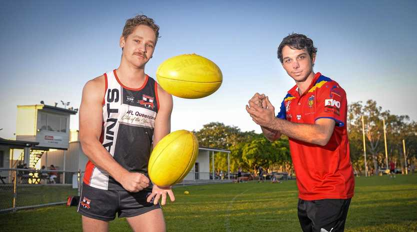 DERBY DAY: BITS captain Danny Conway and Gladstone Suns skipper Adam Hornbrook are playing for bragging rights in today's Showdown.