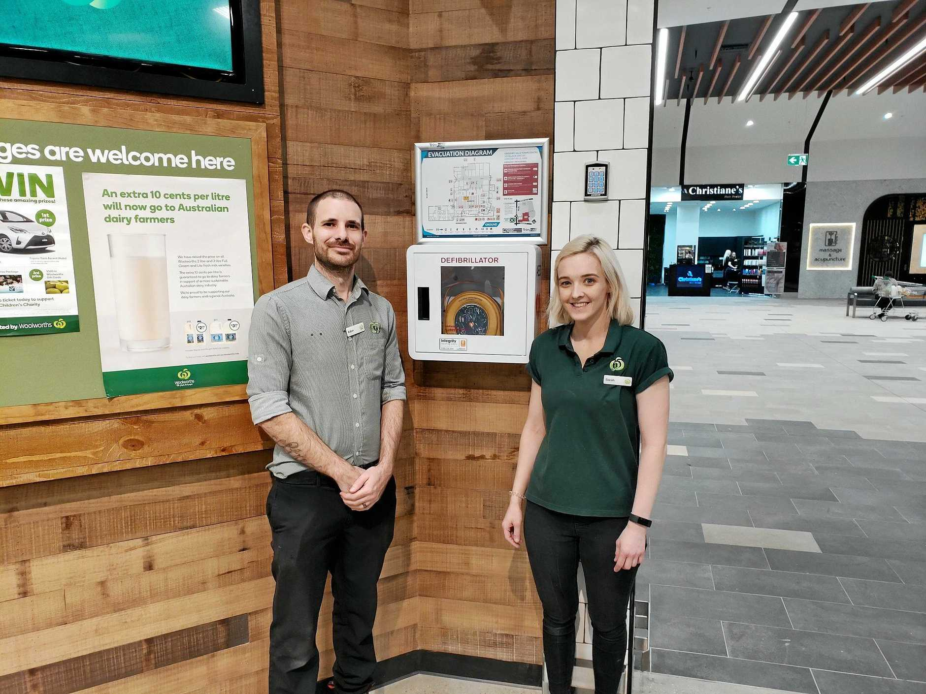 Woolworths has pledged to roll out defibrillator machines in stores across the country.