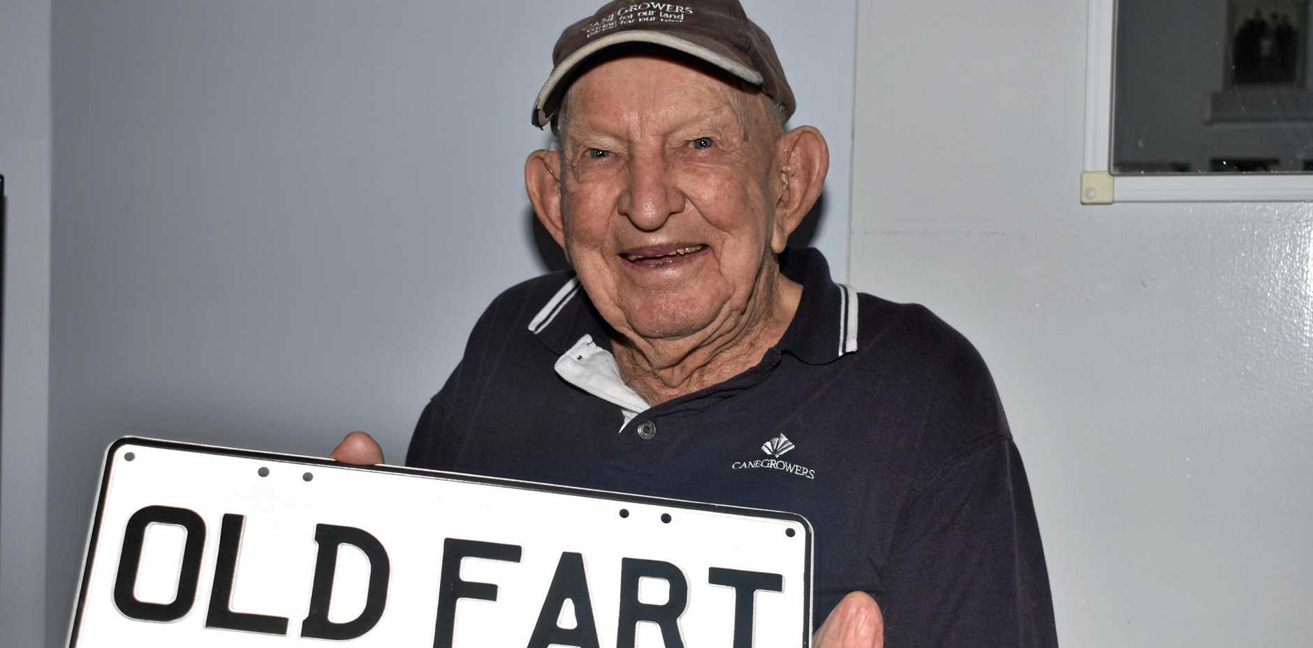 OLD FART: Kevin Mischke spreads joy and laughter at Tabeel Aged Care in Laidley.