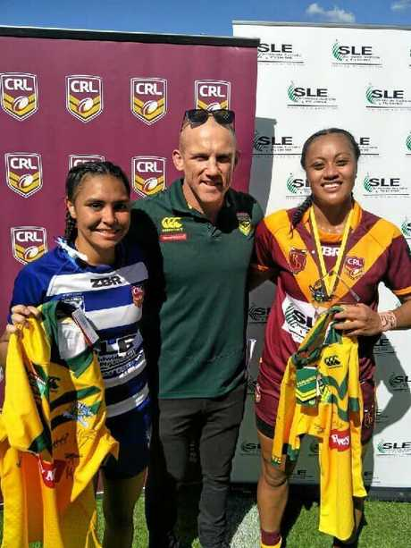 BEST ON FIELD: North Coast Bulldogs' Shellie Long received a signed Jillaroos jersey for best on ground for her North Coast side.