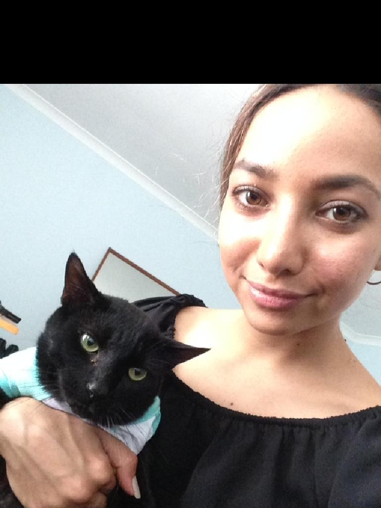 Rosie Rezaie, of Inala, had her cat Jet