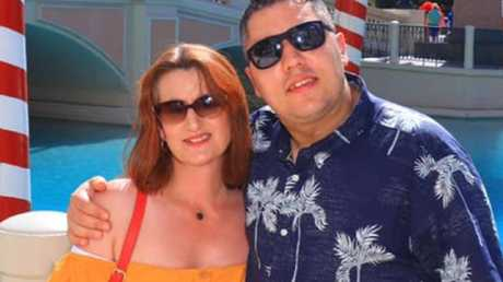 Nick Christou — pictured with wife Karen — initially thought he was being scammed. Picture: Facebook/Karen Christou