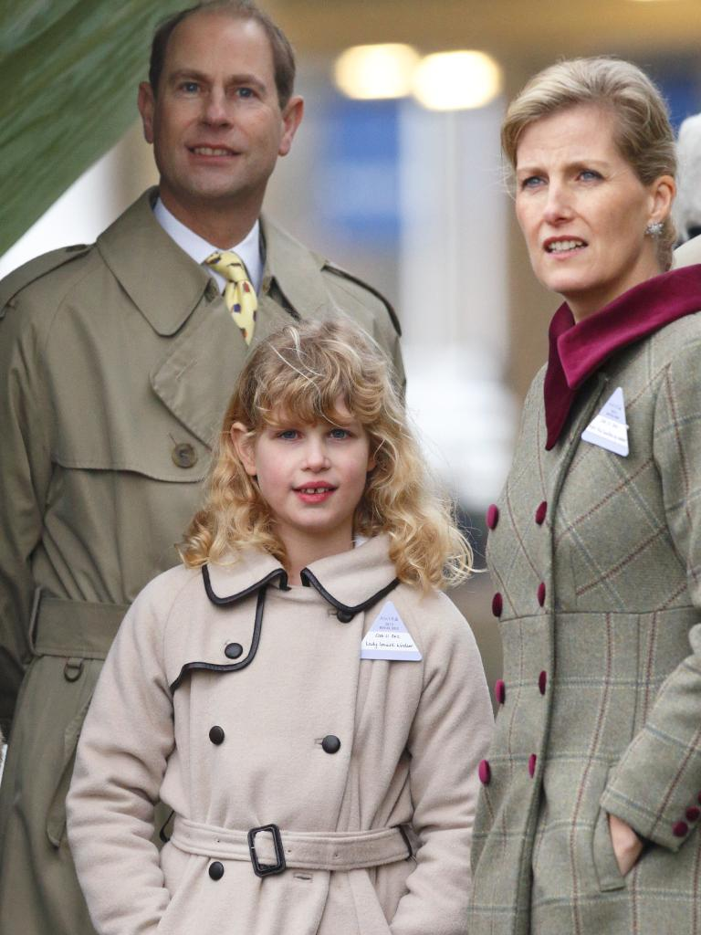 Prince Edward, Earl of Wessex, Sophie Countess of Wessex and their daughter Lady Louise Windsor in 2013. Picture: Getty