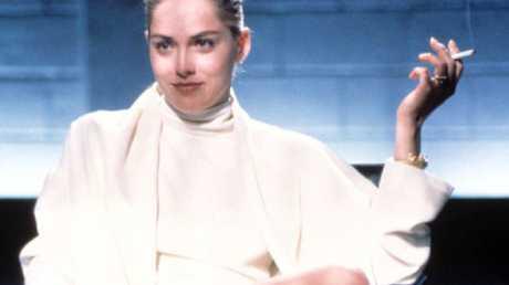 Sharon in THAT iconic Basic Instinct scene.