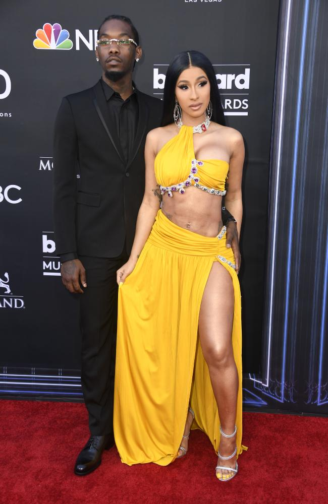 Offset, of Migos, with his wife Cardi B at the 2019 Billboard Music Awards. Picture: Getty Images