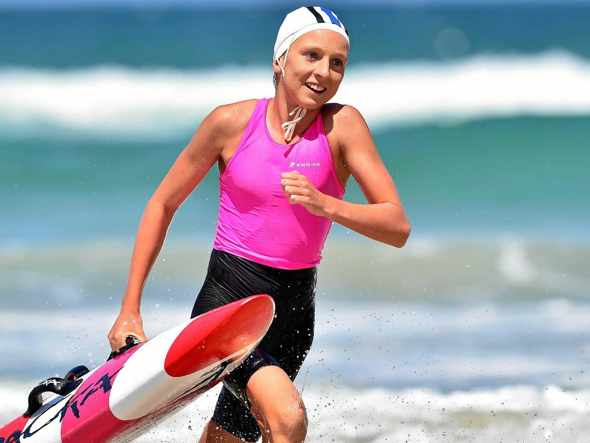 TALENTED: Maroochydore Surf Life Saving Club athlete  Jamie Perkins.