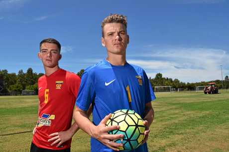 Sunshine Coast Fire ready for the new season.New players Scott Ferries and Eligh Williams.