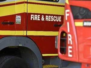 Fireys rush to false reports of a house fire