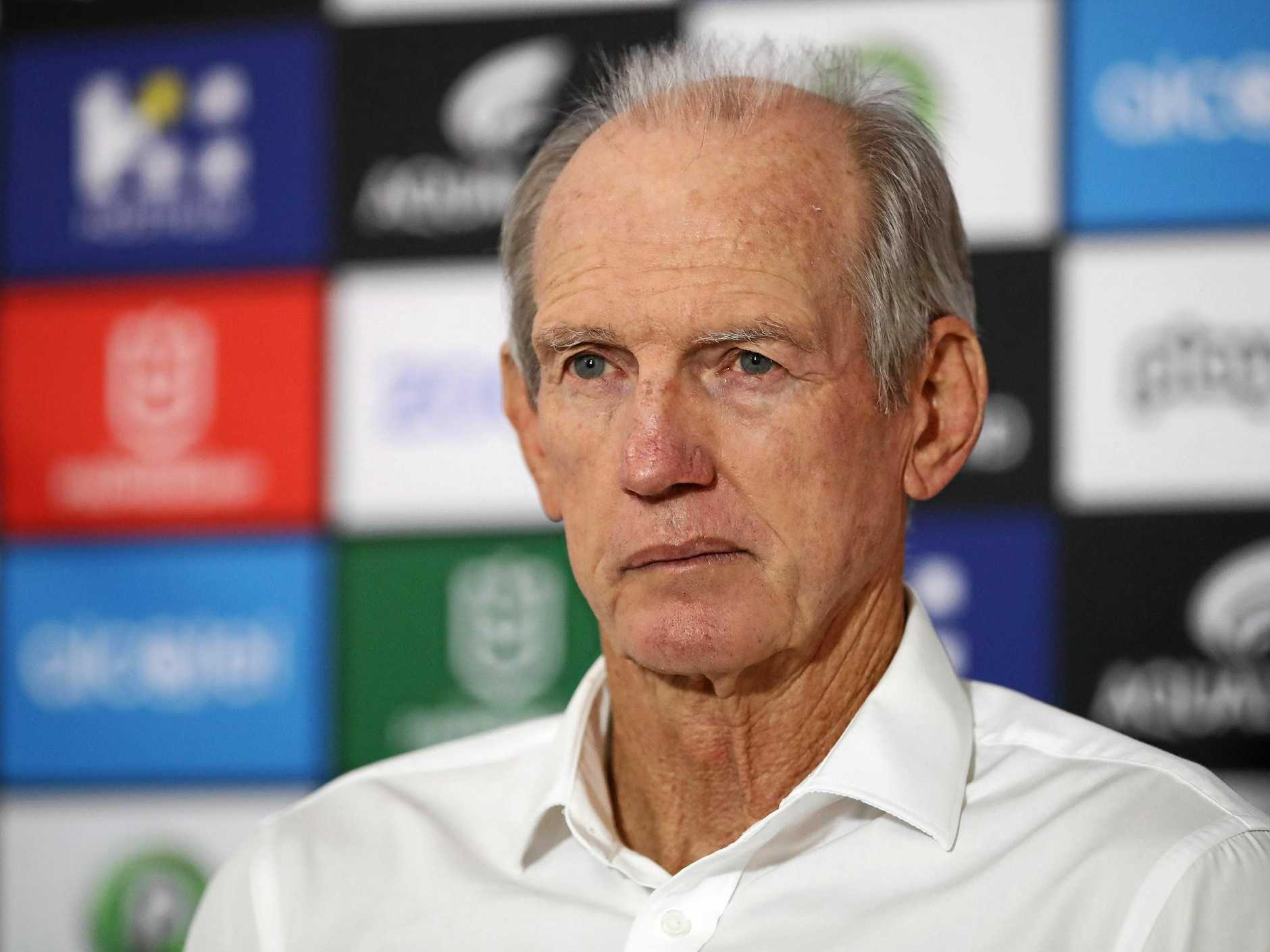 Rabbitohs coach Wayne Bennett is sitting pretty with his team winning seven of their eight games this seasons. Picture: Brendon Thorne/AAP