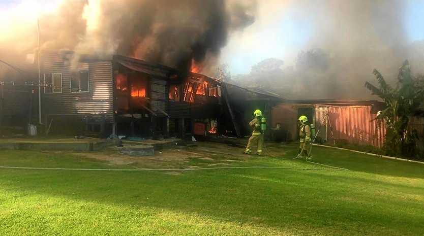 Fire and Rescue NSW crews in the Nambucca Valley saved a home from fire on Saturday afternoon.