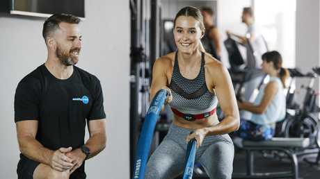 Coaching Zone Five Dock (Sydney) owner Todd Liubinskas training his client. More than 100 new studios are expected to open across Australia over the next five years.