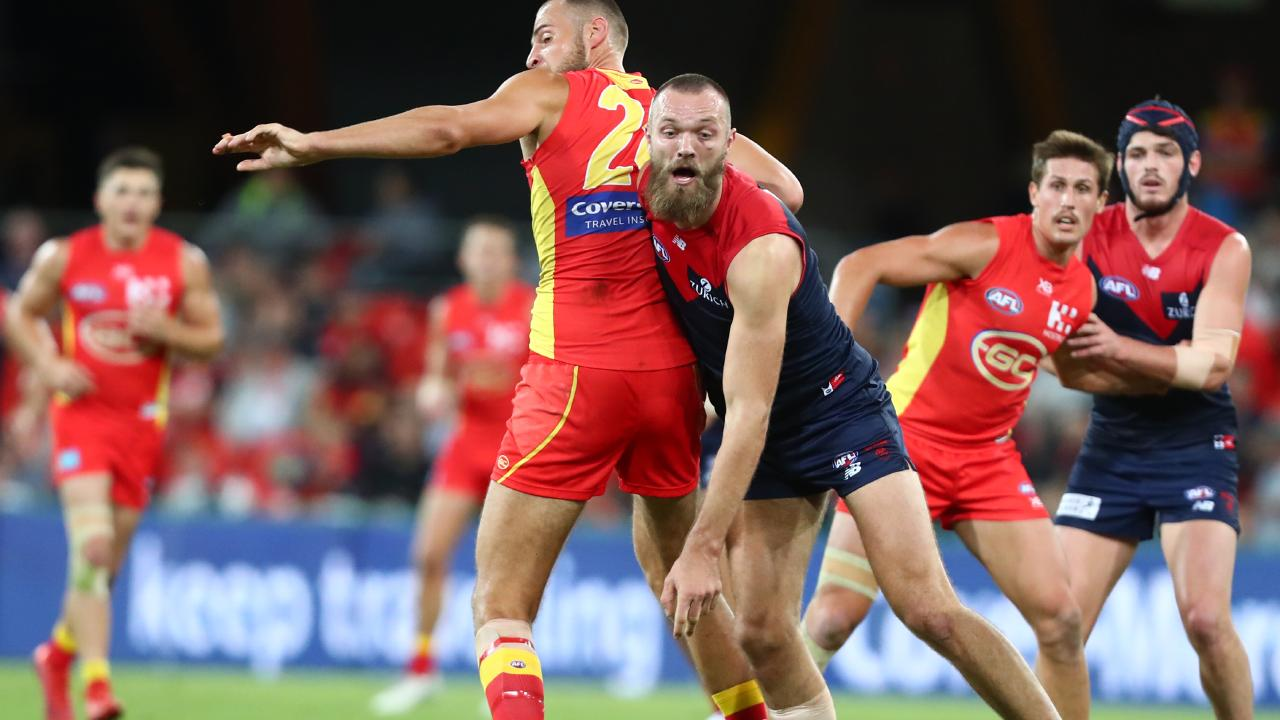 Suns skipper Jarrod Witts had a great battle with Max Gawn. Pic: Getty Images