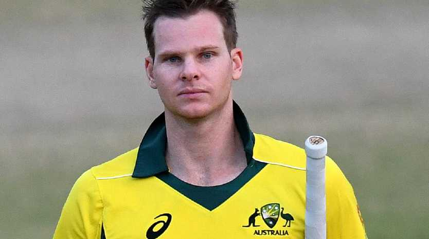 Steve Smith after making 91 not out against New Zealand on Friday.
