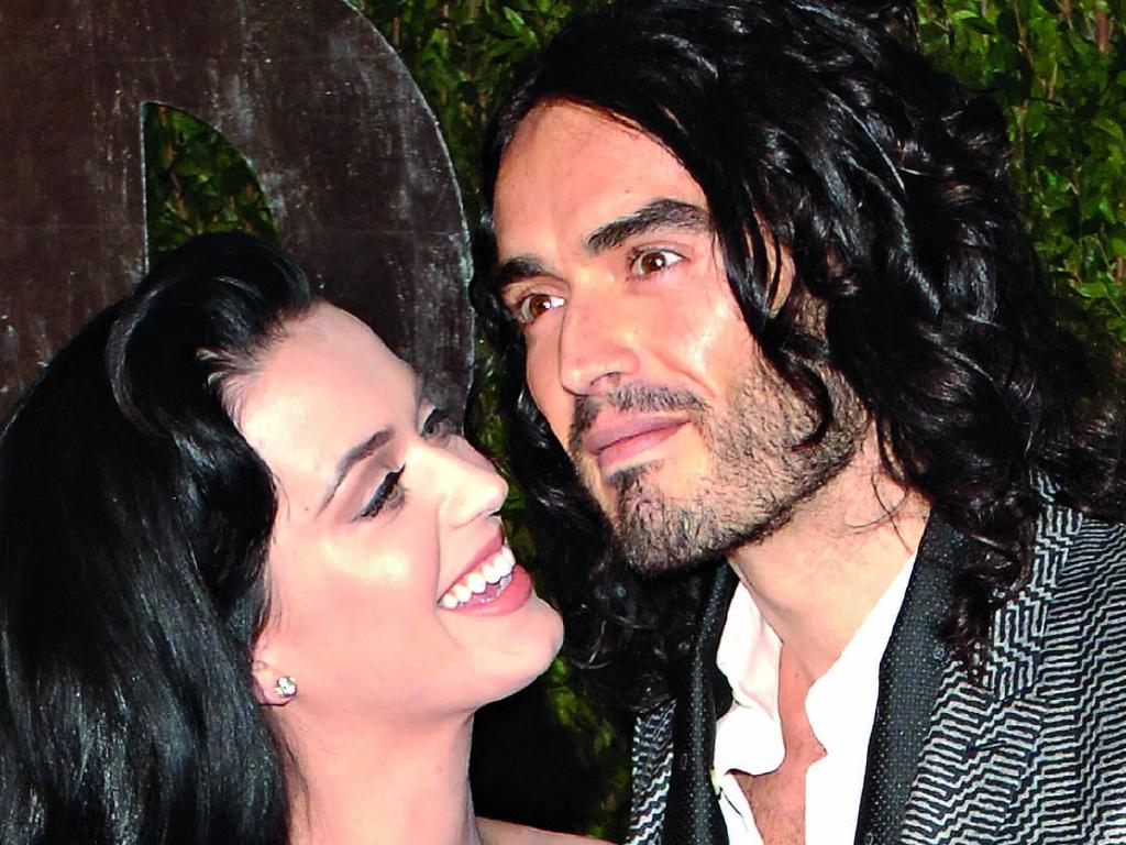 Russell Brand, pictured with ex-wife Katy Perry, has been open about his battle with, and recovery from, sex addiction. Picture: Getty Images