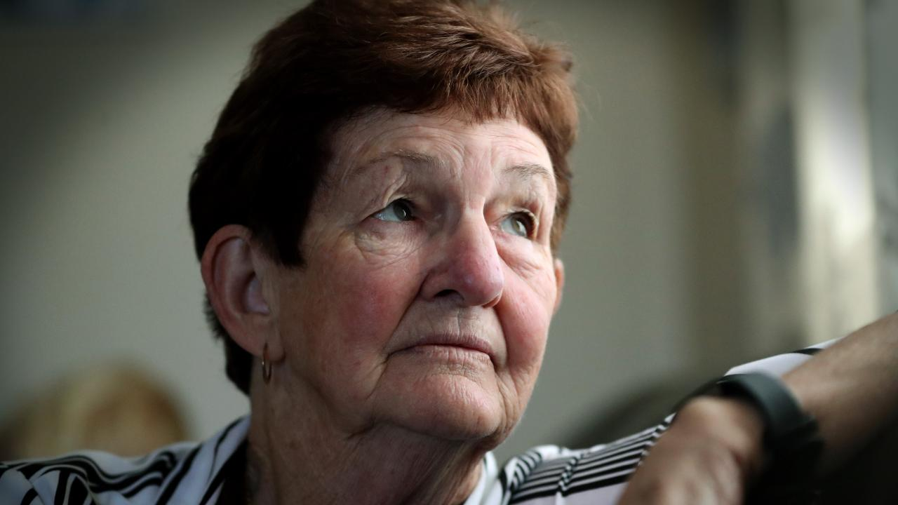 June McConnell was targeted by callous thieves at her home in Brisbane. Picture: Jamie Hanson