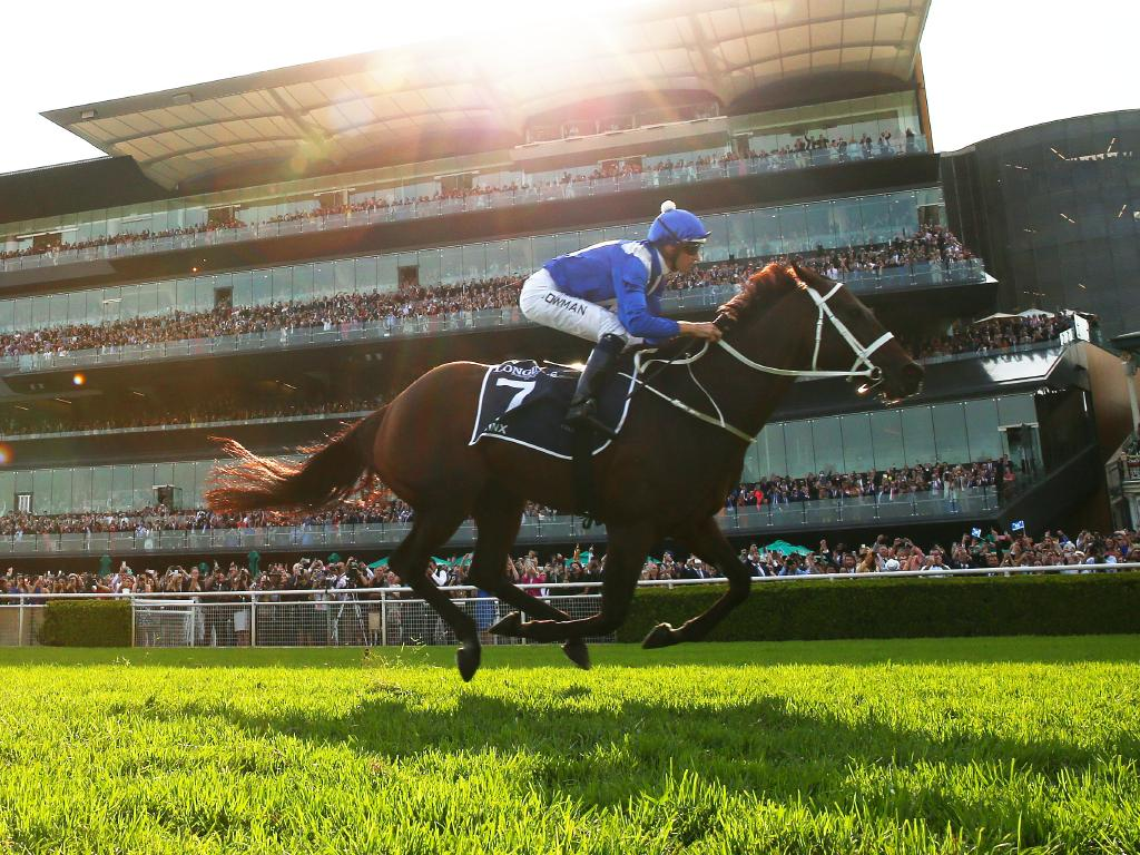 Hugh Bowman and Winx combine to win the Longines Queen Elizabeth Stakes.