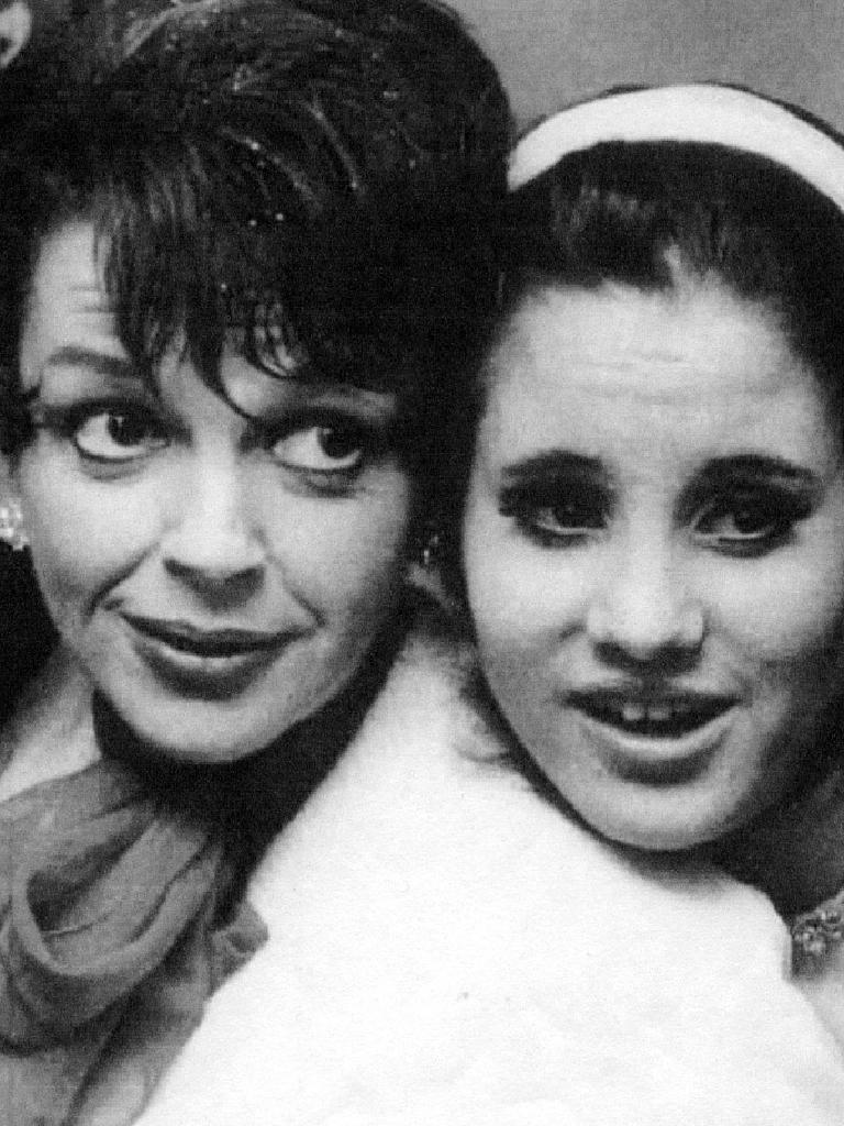 Lorna Luft with her mother, Judy Garland in 1967. Picture: Supplied