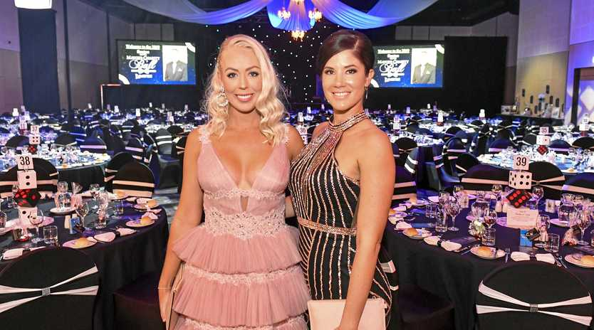 Kershur Mills and Dominique Gleixner  at the 2019 Santos GLNG Mayor's Charity Ball, held at Gladstone Entertainment Convention Centre on 11 May 2019.