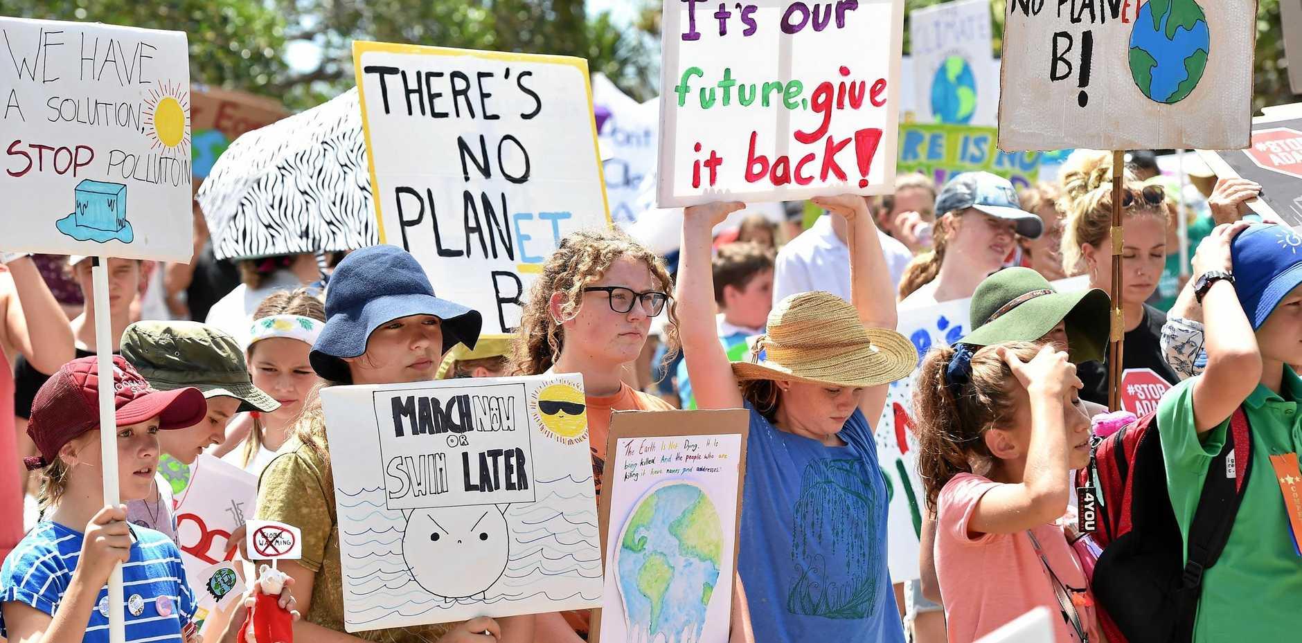 A climate crisis protest.