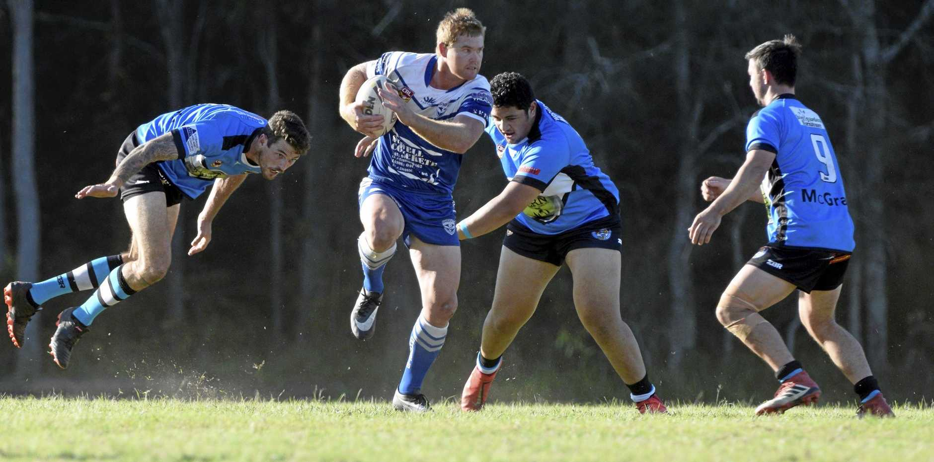 The Grafton Ghosts ran out 48-12 winners over the Woolgoolga Seahorses in this afternoon's Group 2 rugby league first grade match at the Woolgoolga Sportsground.