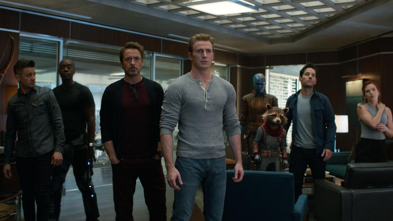 Endgame: Jeremy Renner, Don Cheadle, Robert Downey Jr., Chris Evans, Karen Gillan, the character Rocket, voiced by Bradley Cooper, Paul Rudd and Scarlett Johansson.