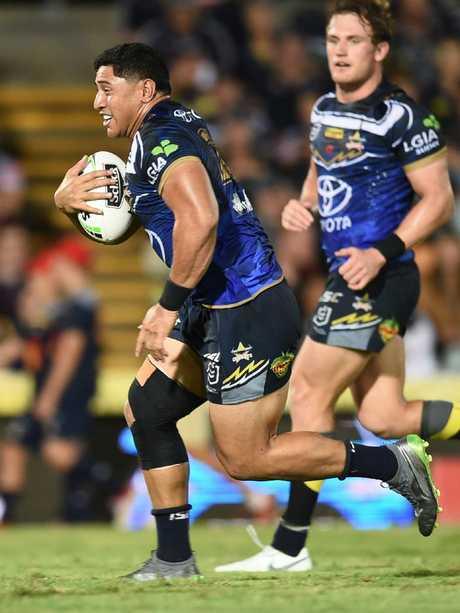 Tongan wrecking ball Jason Taumalolo is a key target for Sam Burgess. Picture: Evan Morgan
