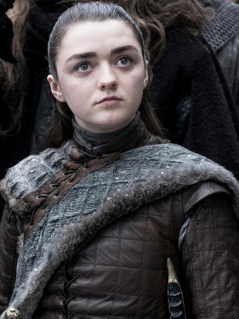 Maisie Williams as Arya Stark. Picture: Helen Sloan/HBO
