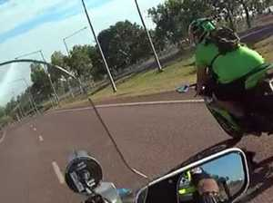 Motorbike hits 280km/h on street escaping police