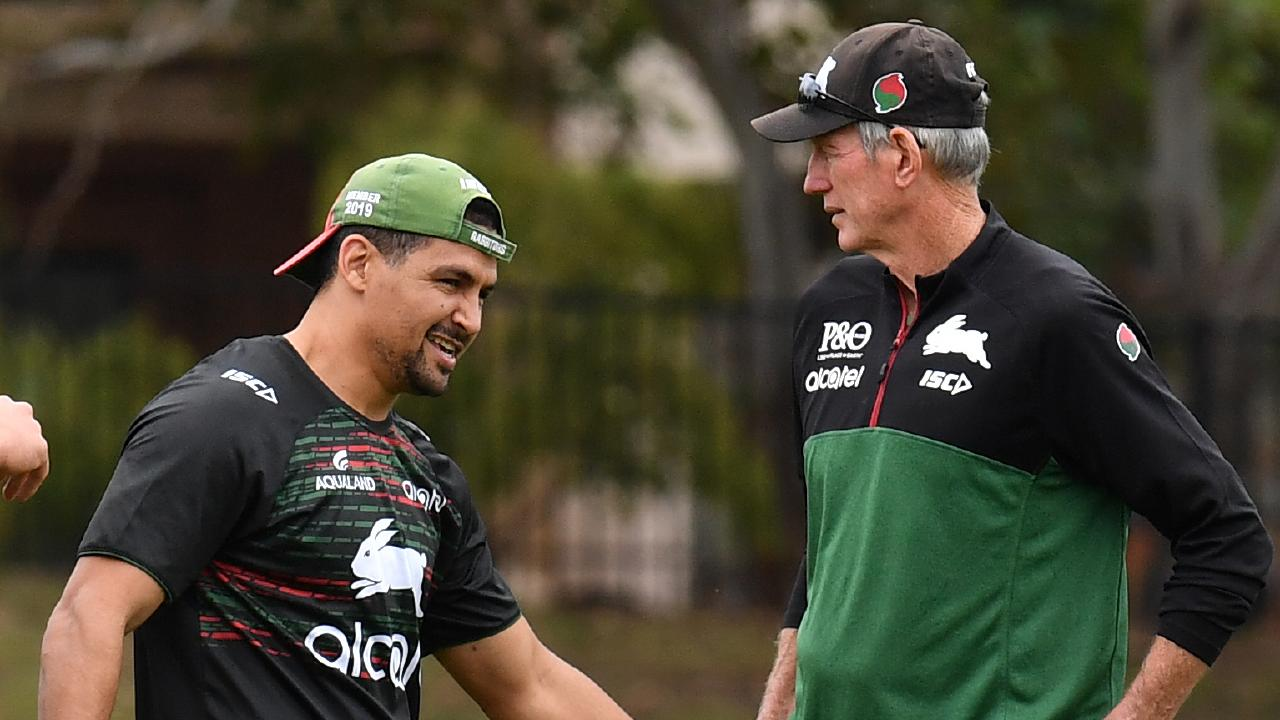 Wayne Bennett is aiming to keep Cody Walker at the Rabbitohs. Picture: AAP Image/Dean Lewins