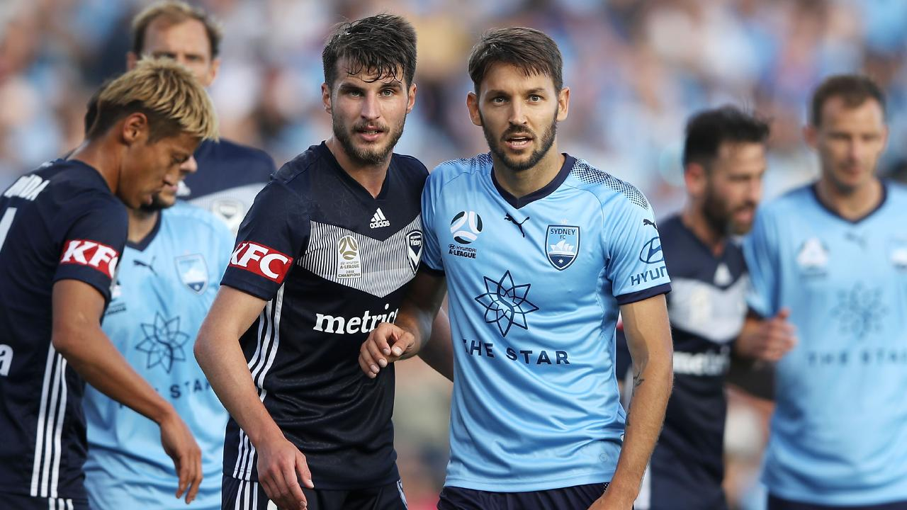 Statistics can barely split Sydney FC and Melbourne Victory when it comes to A-League dominance. Picture: Mark Kolbe/Getty Images