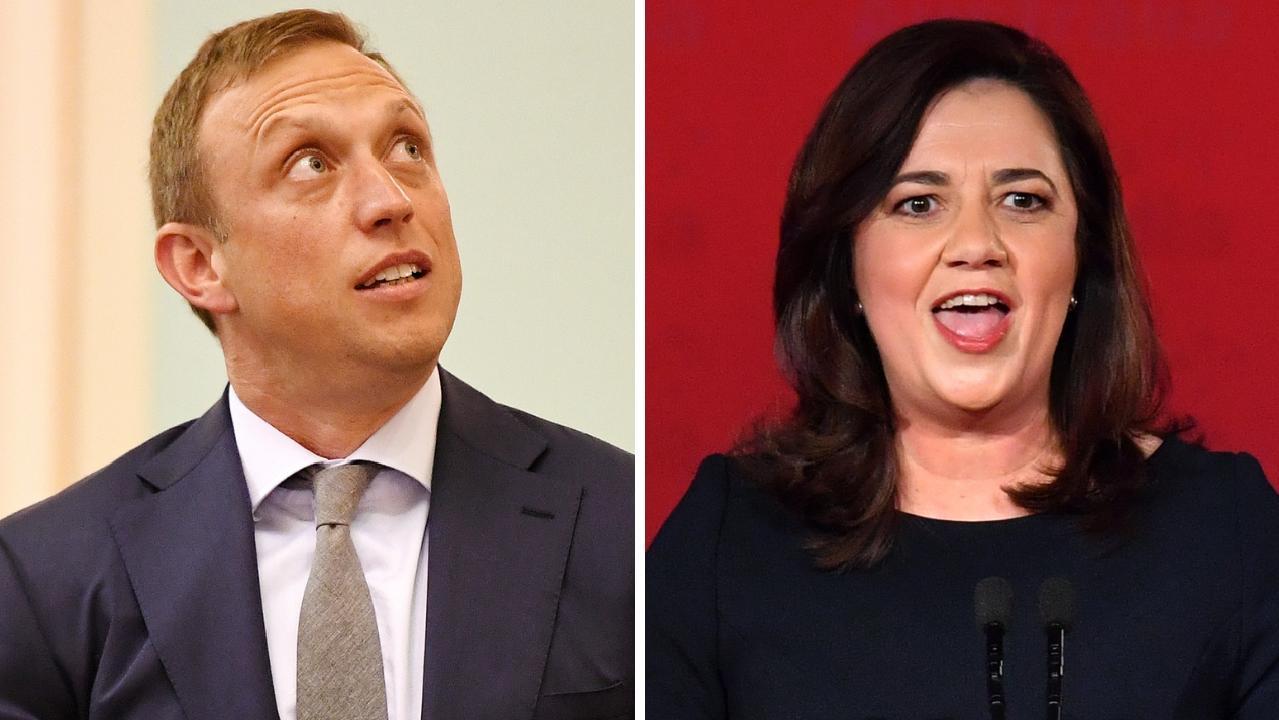 Health Minister Steven Miles and Premier Annastacia Palaszczuk.