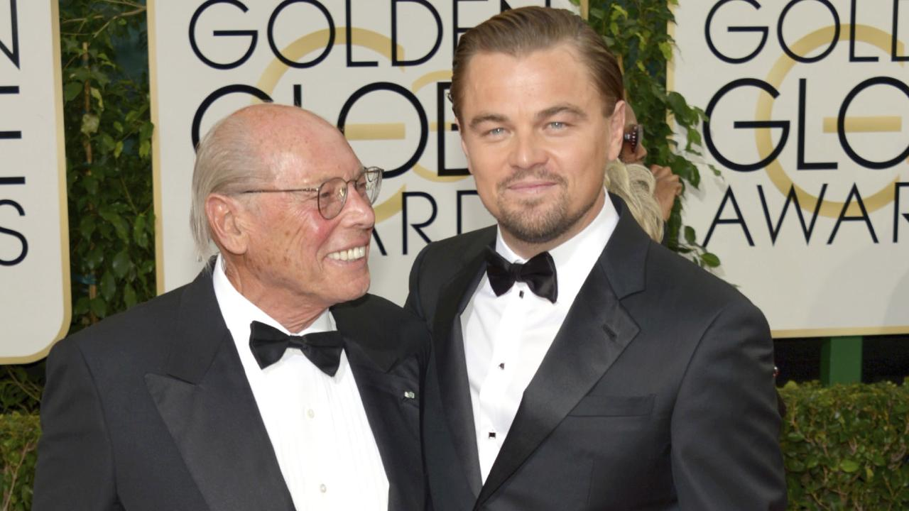 Irwin Winkler and Leonardo DiCaprio at the 2014 Golden Globes. The pair worked together on Wolf of Wall Street. Picture: John Shearer/Invision/AP, File