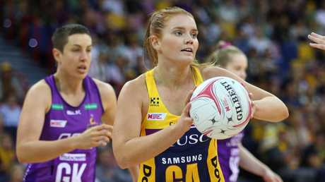 Steph Wood was dangerous for the Lightning throughout. Picture: Chris Hyde/Getty Images