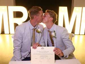 First same-sex married couple immortalised