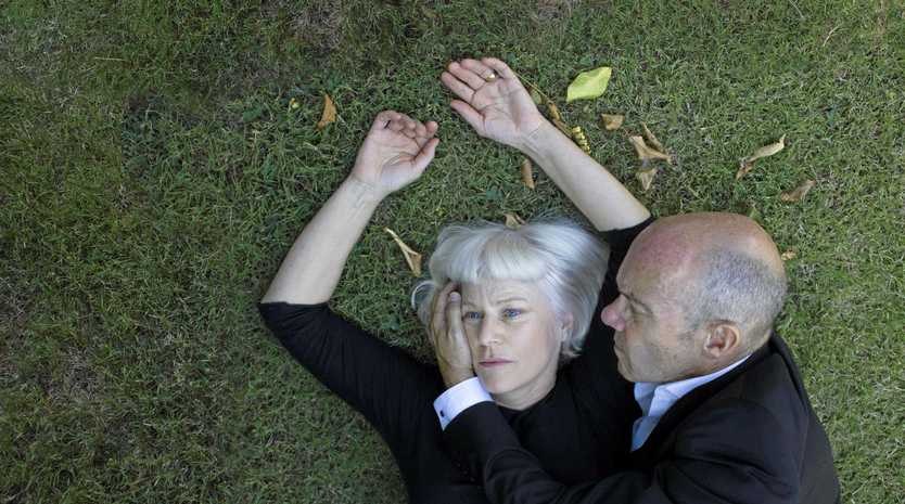THE LOVERS OF VIORNE: Claire Lannes (Jilian Murray) and Pierre (Rob Meldrum) coming to Lismore.