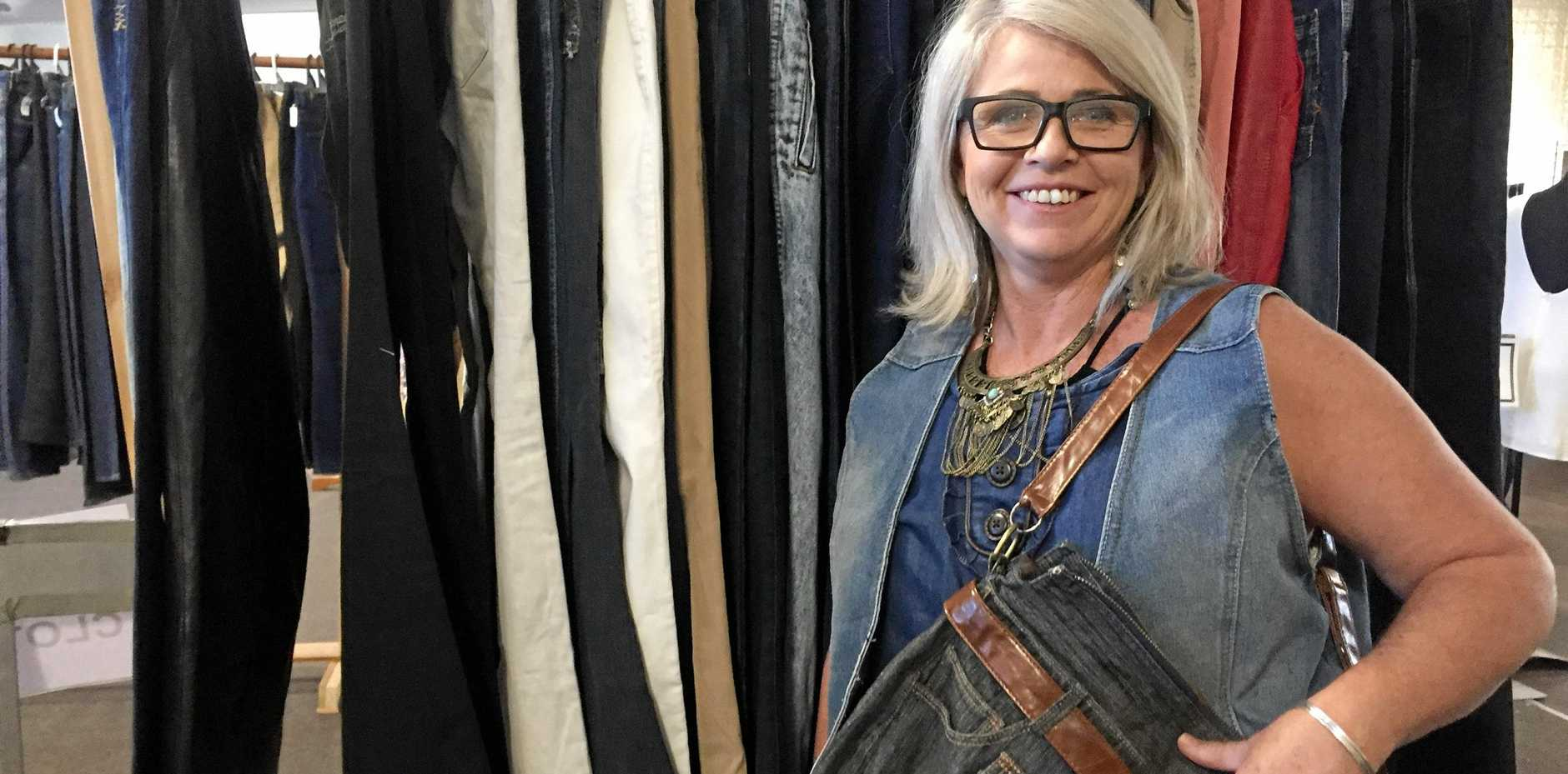 BAGGING A BARGAIN: Michelle Harmer at the Cooroy Lifeline Denim and Country Sale.