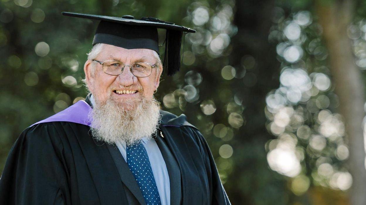 Phillip Costello on graduation day in Toowoomba.