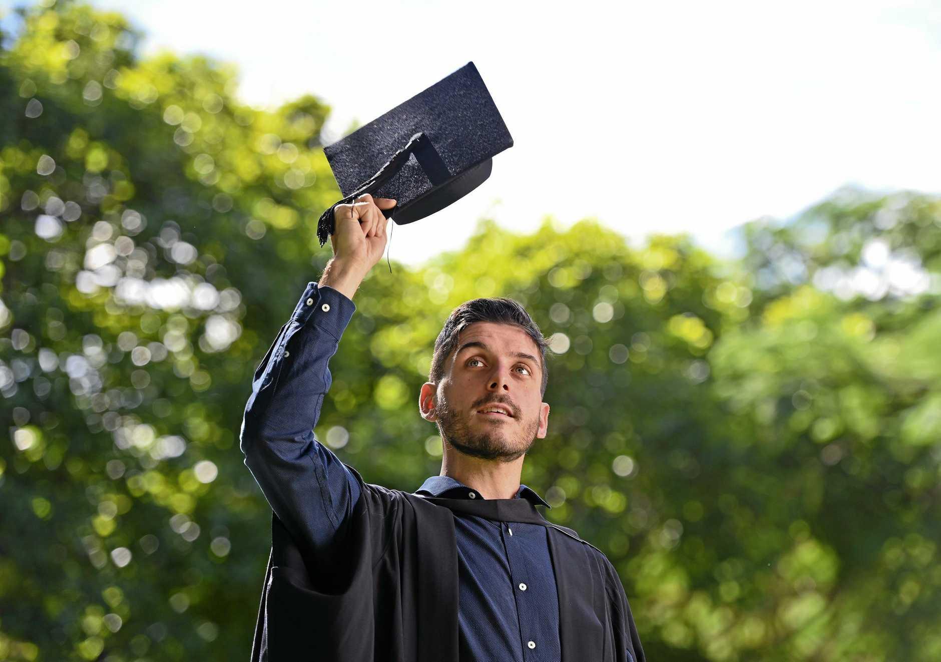 Ivan Reveruzzi graduates with a Bachelor of Education from USQ.