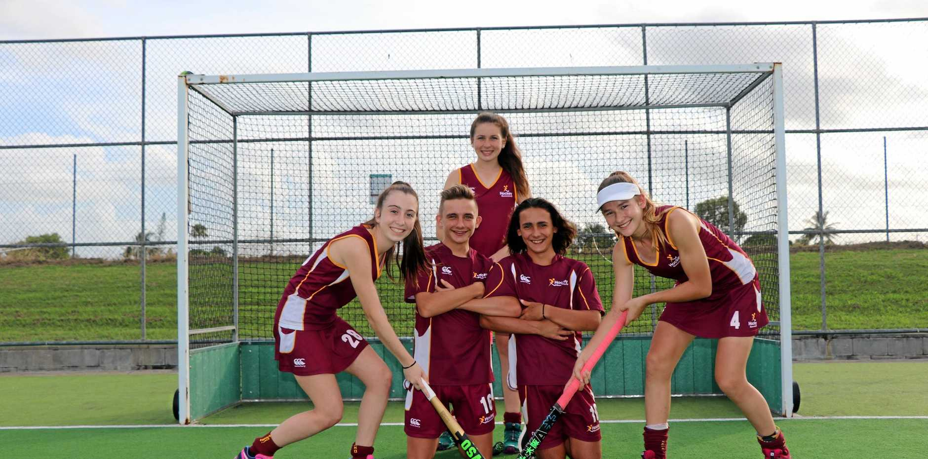 Back: Claire Colwill Front from left: Keeley Walker, Logan Templeton, Noah Gauci and Jordan Bliss