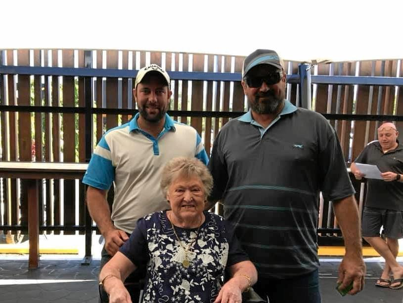 TEE-RIFFIC: Dean Barnard, Eileen Nicol and Anthony Gwalter at Whitsunday Golf on Sunday.