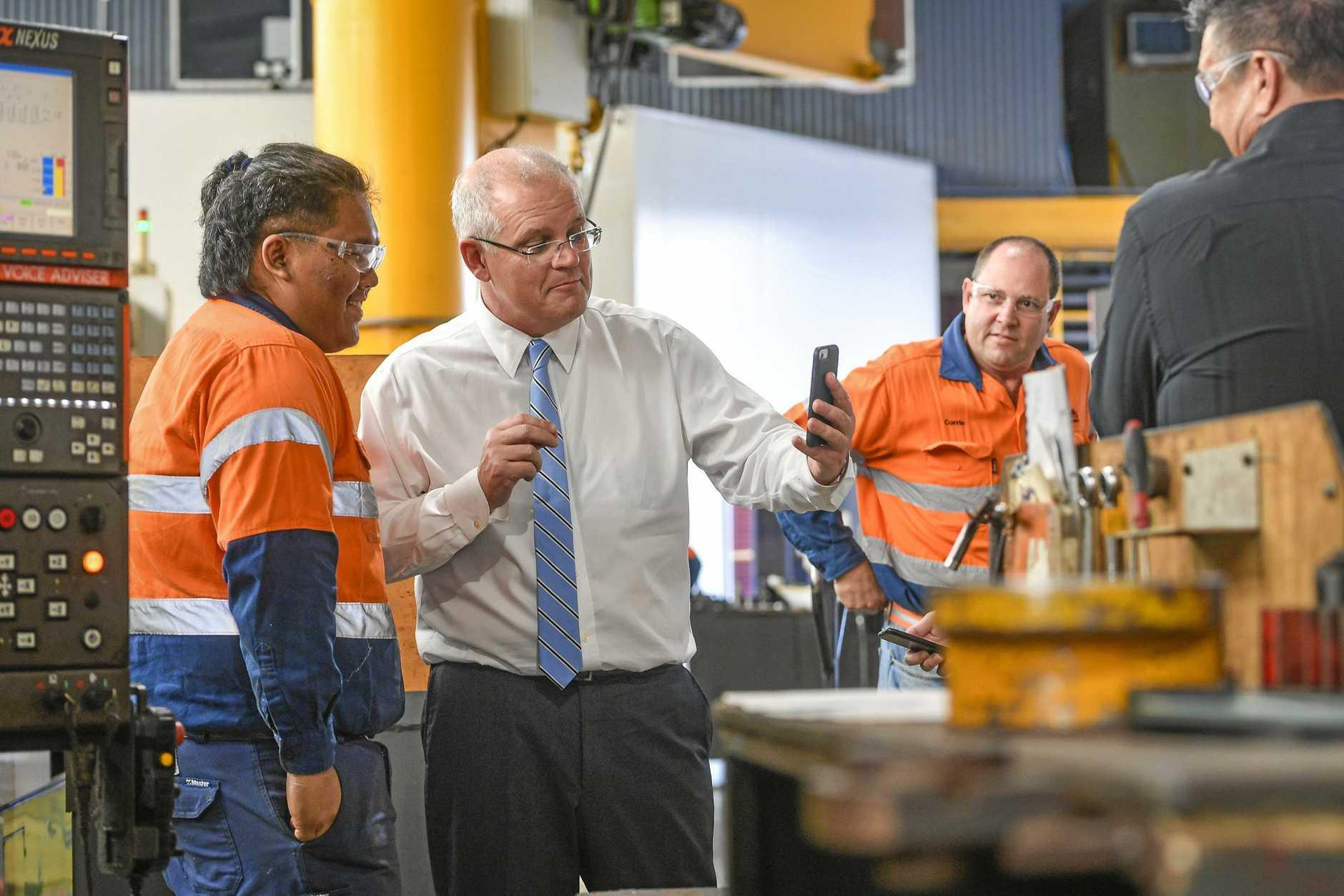 Australian PM Scott Morrison with Christopher Sinclair.