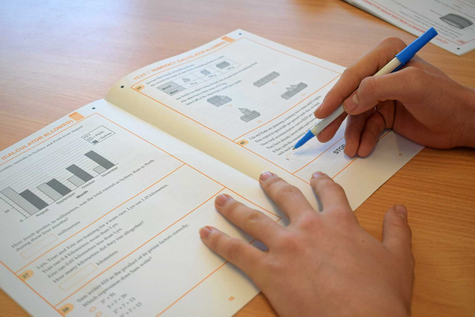 NAPLAN: The testing is a national requirement for grades three, five,  seven, and nine.