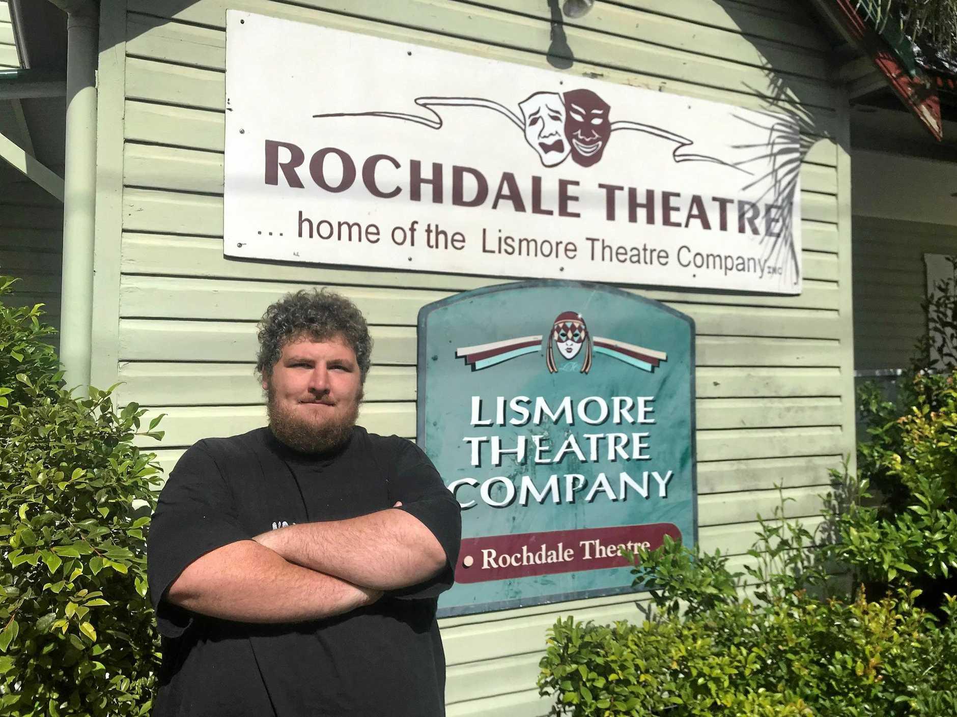 VOLUNTEER: Luke Kane, Head Technician at the Lismore Theatre Company.