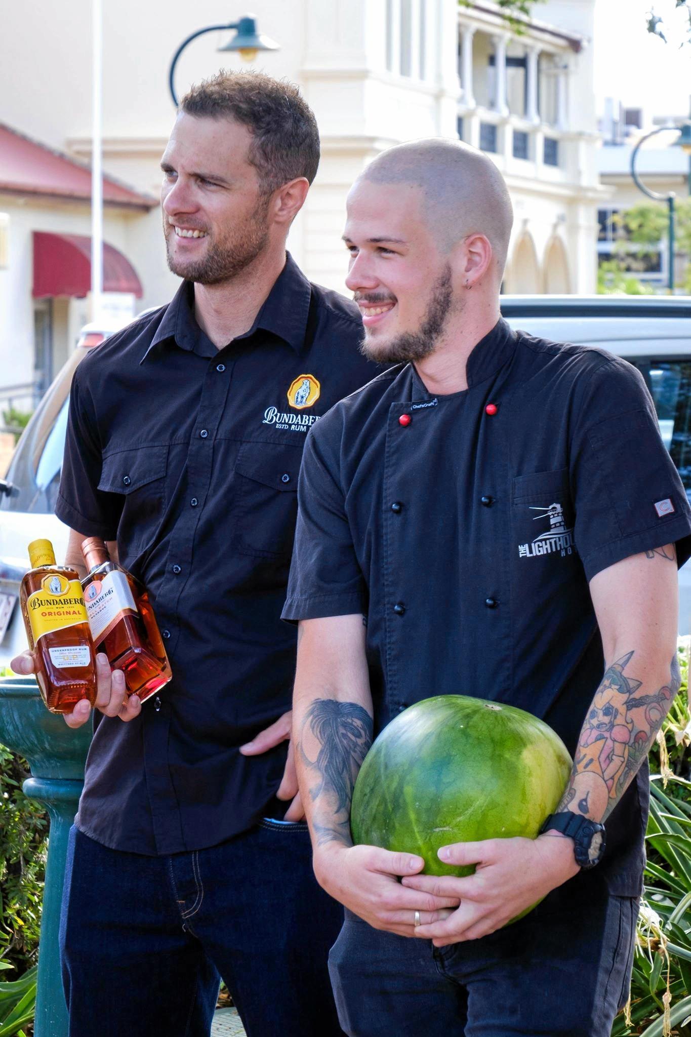 Bundaberg Rum's Scott Merrick and The Lighthouse Hotel's Matthew Buwalda are part of the Taste Bundaberg Festival.