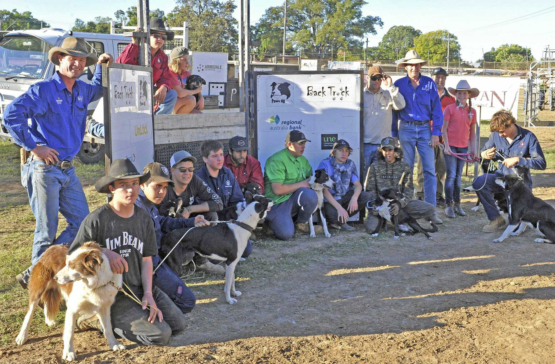 WINNERS: The Valley Track and Back Track teams came away with ribbons in the Junior Bush Dog Trials